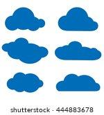 vector illustration of clouds...   Shutterstock .eps vector #444883678