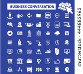 business conversation icons | Shutterstock .eps vector #444883963