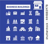 business buildings icons | Shutterstock .eps vector #444883978