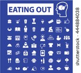 eating out icons | Shutterstock .eps vector #444884038