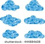 cloud geometrical style   Shutterstock .eps vector #444884608