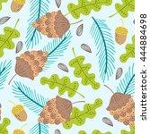 seamless summer nature vector...   Shutterstock .eps vector #444884698