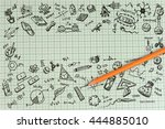 education sketch design on... | Shutterstock . vector #444885010
