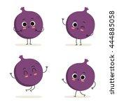 fig. cute fruit vector... | Shutterstock .eps vector #444885058