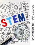 doodle of stem education... | Shutterstock . vector #444886708