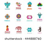 india   set of indian icons.... | Shutterstock .eps vector #444888760
