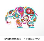 india   parsley patterned... | Shutterstock .eps vector #444888790