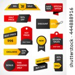 vector stickers  price tag ... | Shutterstock .eps vector #444888916