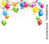 set of colorful balloons ...   Shutterstock .eps vector #444888946