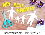 happy strong family. abstract... | Shutterstock . vector #444889174