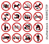prohibition set symbol | Shutterstock .eps vector #444892759
