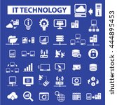 it technology icons   Shutterstock .eps vector #444895453