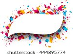 paper figured white background... | Shutterstock .eps vector #444895774