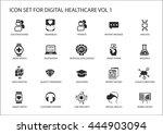 digital healthcare and medicine ... | Shutterstock .eps vector #444903094