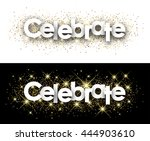 celebrate paper banner with... | Shutterstock .eps vector #444903610