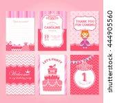 princess birthday party... | Shutterstock .eps vector #444905560
