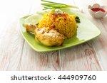 chicken biryani thai style....   Shutterstock . vector #444909760