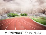 high angle view of track...   Shutterstock . vector #444914389
