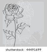 decorative background with rose ... | Shutterstock .eps vector #44491699