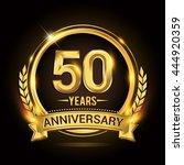 celebrating 50 years... | Shutterstock .eps vector #444920359