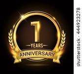 celebrating 1 years anniversary ... | Shutterstock .eps vector #444923278