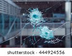 Bullet Hole In Glass.