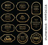 retro golden vintage frame... | Shutterstock .eps vector #444926116