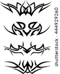 tribal pattern set | Shutterstock .eps vector #444929260