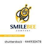cartoon logo template with the... | Shutterstock .eps vector #444930478