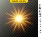 vector sun light lens flare... | Shutterstock .eps vector #444933196