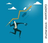 the man throw an arrow to the... | Shutterstock .eps vector #444934093