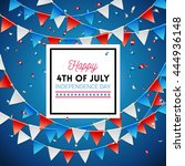 independence day happy fourth... | Shutterstock .eps vector #444936148