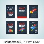 super sale banner on colorful... | Shutterstock .eps vector #444941230