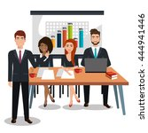 businesspeople in training... | Shutterstock .eps vector #444941446