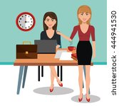 business people in training... | Shutterstock .eps vector #444941530