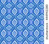 boho tie dye pattern. hippie... | Shutterstock .eps vector #444942280