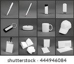 blank stationery set for... | Shutterstock . vector #444946084