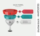 funnel vector business sales... | Shutterstock .eps vector #444950950