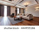 living room with a beautiful... | Shutterstock . vector #444955186