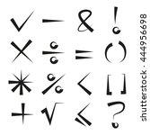 math signs  check mark | Shutterstock .eps vector #444956698