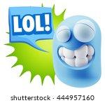 3d illustration laughing... | Shutterstock . vector #444957160