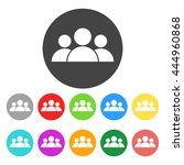 people icon. color flat vector... | Shutterstock .eps vector #444960868