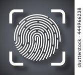 vector fingerprint scanning... | Shutterstock .eps vector #444966238