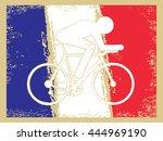 vector cycling illustration  ... | Shutterstock .eps vector #444969190