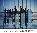 histogram statistics graph bar... | Shutterstock . vector #444975196