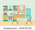 kitchen interior cozy home food ...