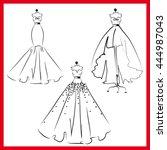 dress design | Shutterstock .eps vector #444987043