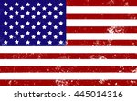 american flag with retro effect.... | Shutterstock . vector #445014316