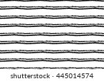 hand drawn striped seamless... | Shutterstock .eps vector #445014574