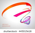 abstract spiral on white...   Shutterstock .eps vector #445015618